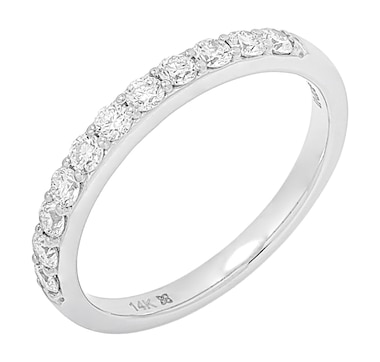 ethique Diamonds 14K White Gold Diamond Band Ring