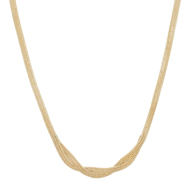 UNOAERRE 18K Yellow Gold Woven Necklace