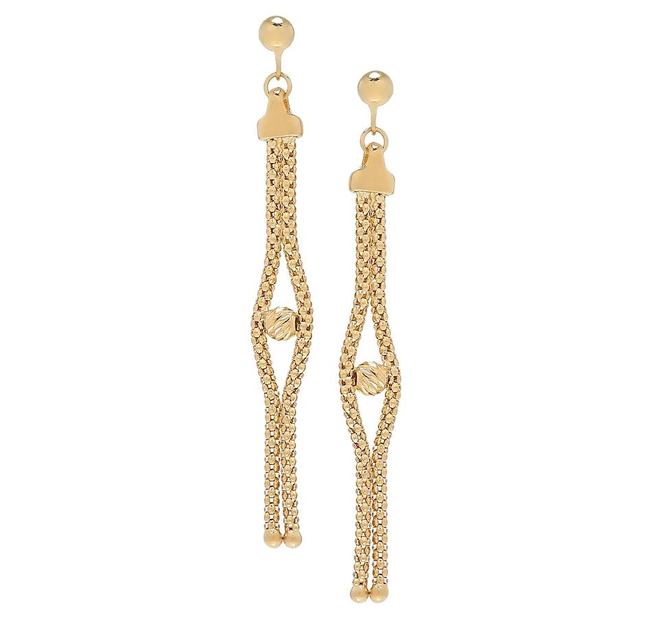 Image 500102_YGL.jpg , Product 500-102 / Price $359.99 , UNOAERRE 18K Yellow Gold Dangling Bead Earrings from UnoAErre Jewellery on TSC.ca's Jewellery department