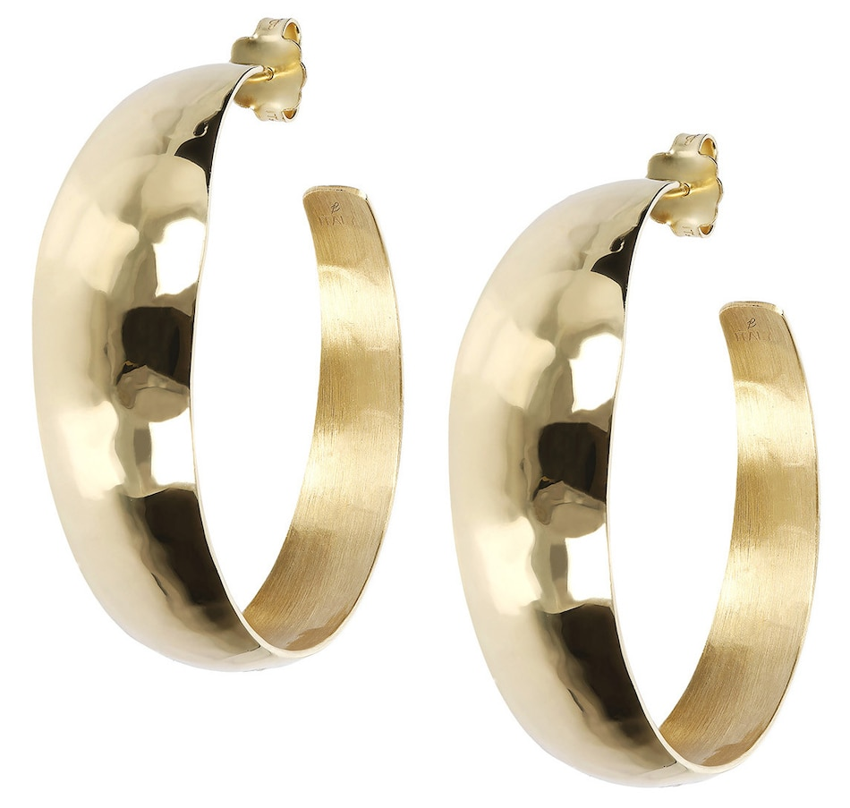 Image 500151.jpg , Product 500-151 / Price $77.00 , Etrusca Hammered Textured Round Hoop Earrings from Etrusca Jewellery on TSC.ca's Jewellery department