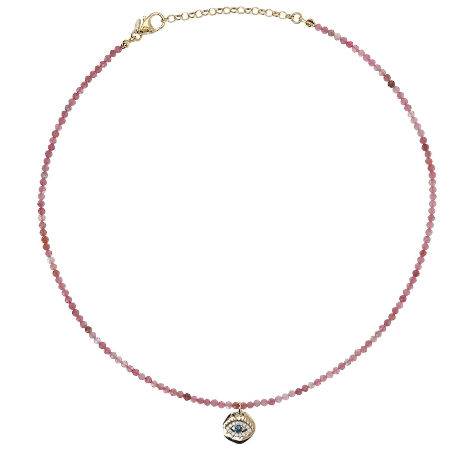 Image 500154_PTO.jpg , Product 500-154 / Price $84.99 , Etrusca Faceted Gemstone Bead and Cubic Zirconia Eye Necklace from Etrusca Jewellery on TSC.ca's Jewellery department