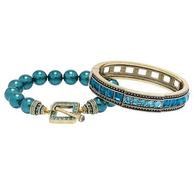 Heidi Daus Double Your Pleasure Set of 2 Bracelets
