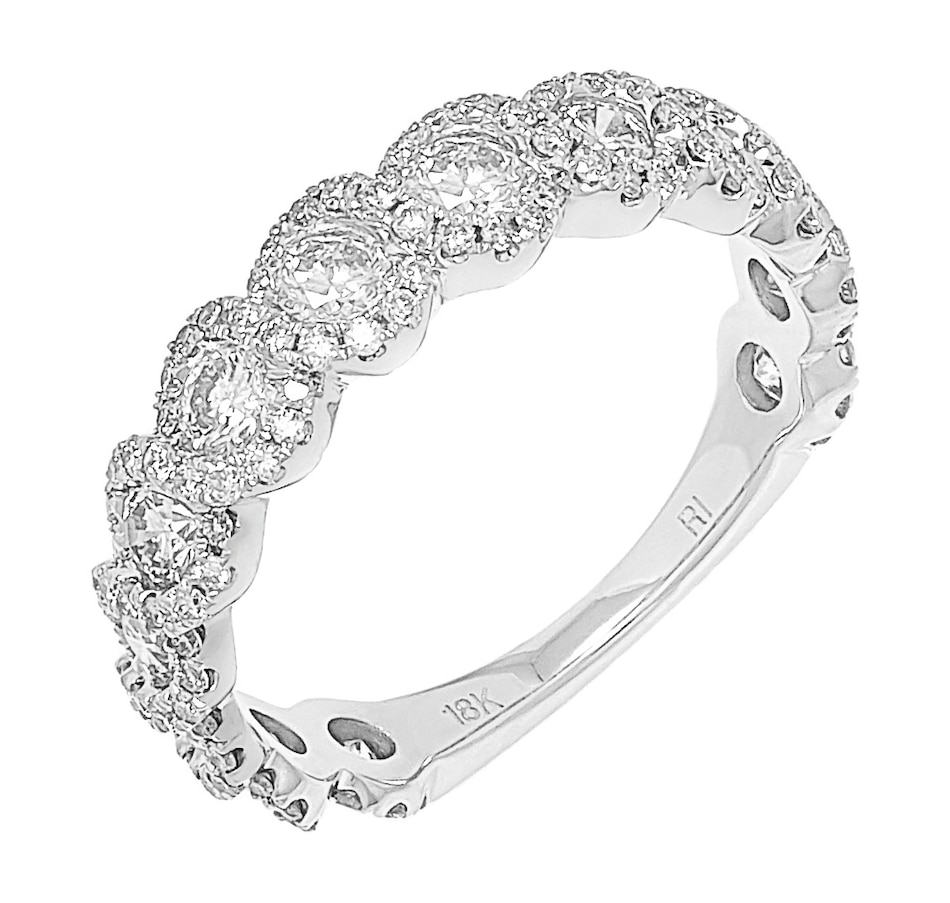 Image 500471_WGL.jpg , Product 500-471 / Price $1,899.88 , 18K White Gold Twisted semi Eternity Diamond Band from Diamond Show on TSC.ca's Jewellery department