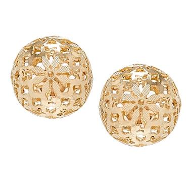 Stefano Oro 14K Yellow Gold Ricami Bead Earrings