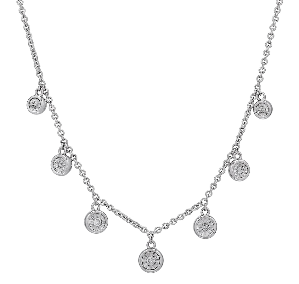 Image 501605.jpg , Product 501-605 / Price $179.33 , Colours of Diamonds Sterling Silver White Diamond Charm Necklace from Colours of Diamonds on TSC.ca's Jewellery department