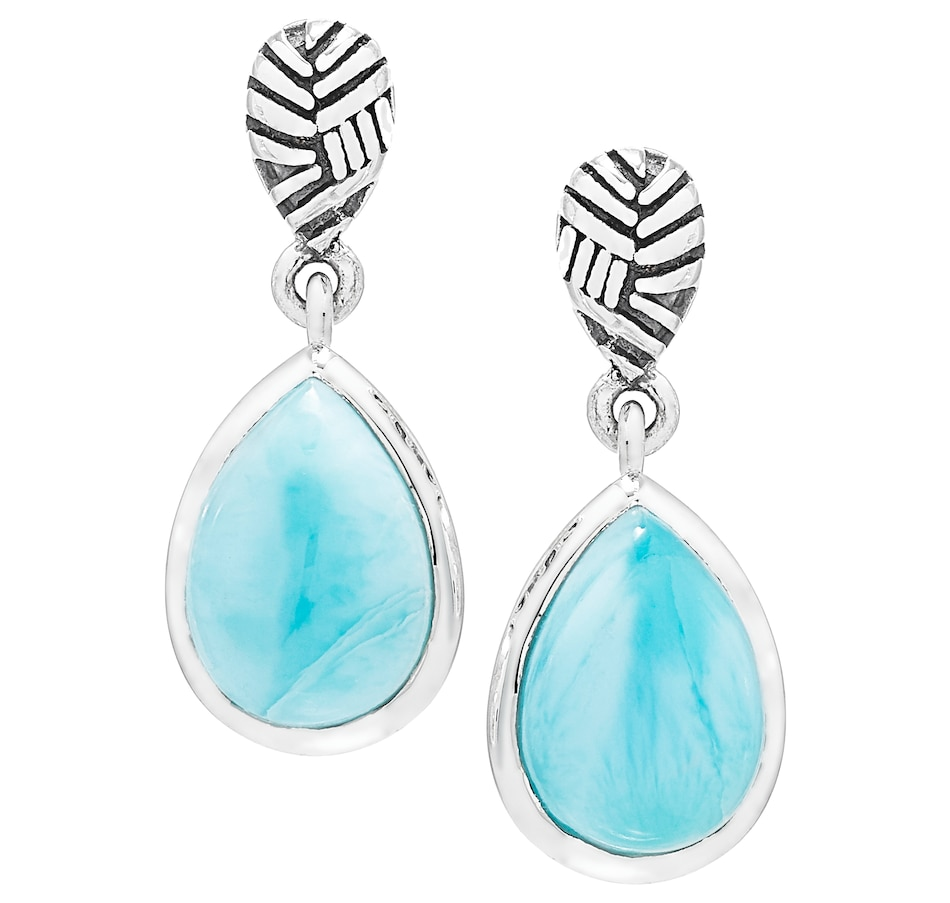 Image 501798.jpg , Product 501-798 / Price $69.33 , Himalayan Gems Sterling Silver Larimar Oval Earrings from Himalayan Gems on TSC.ca's Jewellery department
