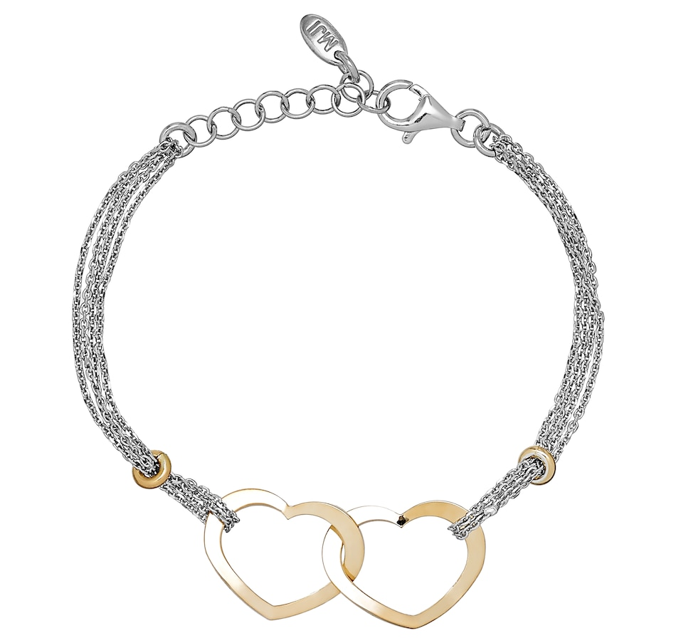 Image 502054_YELRH.jpg , Product 502-054 / Price $102.99 , Silver Gallery Sterling Silver Double Heart Bracelet from Silver Gallery on TSC.ca's Jewellery department