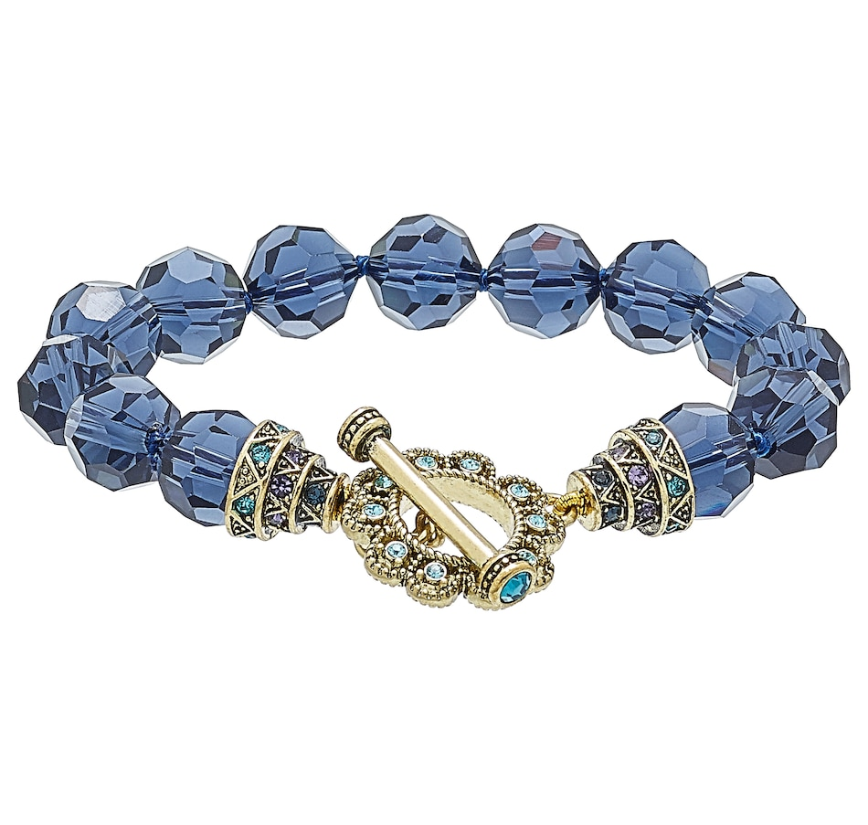 Image 502141_BLU.jpg , Product 502-141 / Price $39.95 , Heidi Daus How Suite it is Toggle Bracelet from Heidi Daus Deco Collection on TSC.ca's Jewellery department