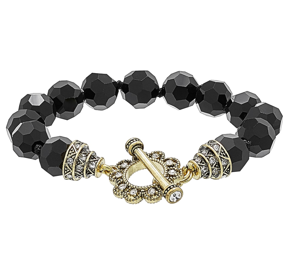 Image 502141_JET.jpg , Product 502-141 / Price $82.95 , Heidi Daus How Suite it is Toggle Bracelet from Heidi Daus Deco Collection on TSC.ca's Jewellery department