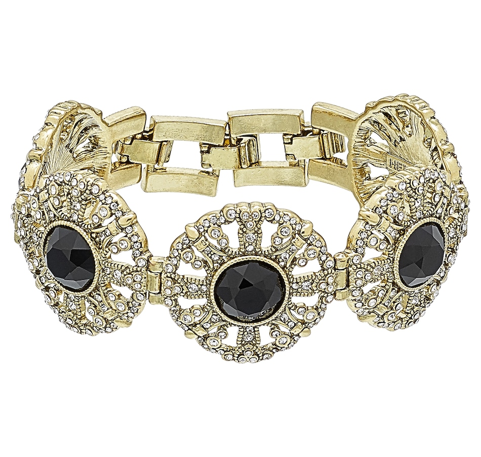 Image 502142_JET.jpg , Product 502-142 / Price $79.33 , Heidi Daus How Suite it is Layout Bracelet from Heidi Daus Deco Collection on TSC.ca's Jewellery department