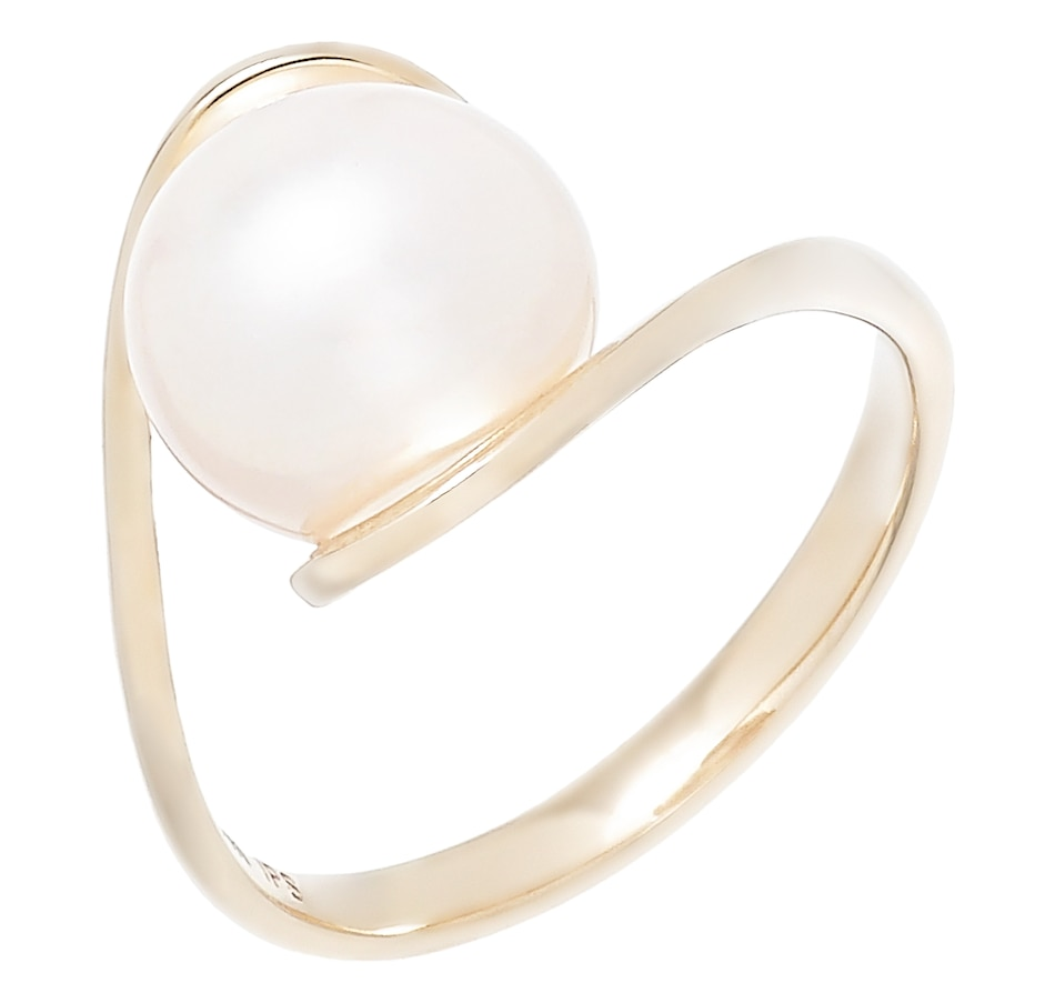 Image 502182.jpg , Product 502-182 / Price $399.33 , Imperial Pearls 14K Yellow Gold 9-10mm Freshwater Pearl Twist Ring from Imperial Pearl on TSC.ca's Jewellery department