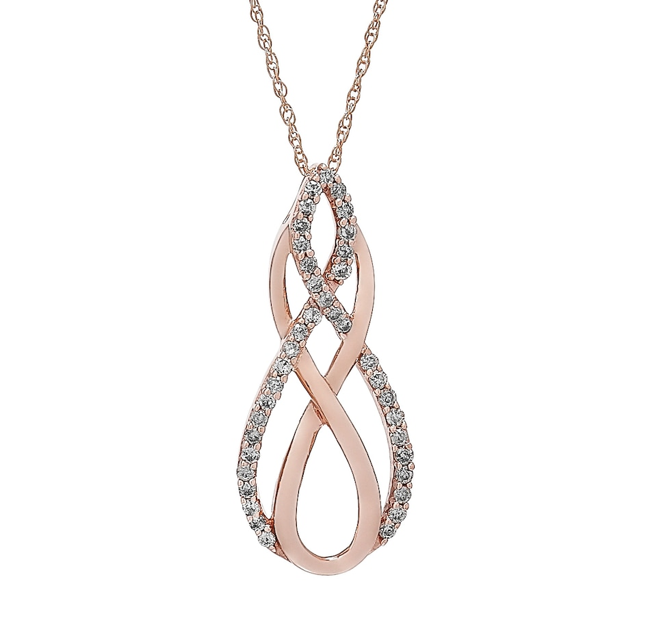 Image 502353.jpg , Product 502-353 / Price $249.88 , 10K Rose Gold 0.33ctw Diamond Pendant with Chain from Diamond Show on TSC.ca's Jewellery department