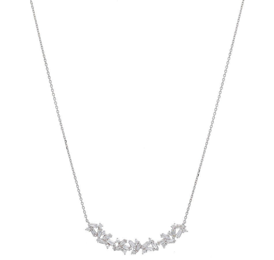 Image 502393.jpg , Product 502-393 / Price $1,999.88 , 18K White Gold Baguette & Round Diamond Necklace from Best of Gems on TSC.ca's Jewellery department