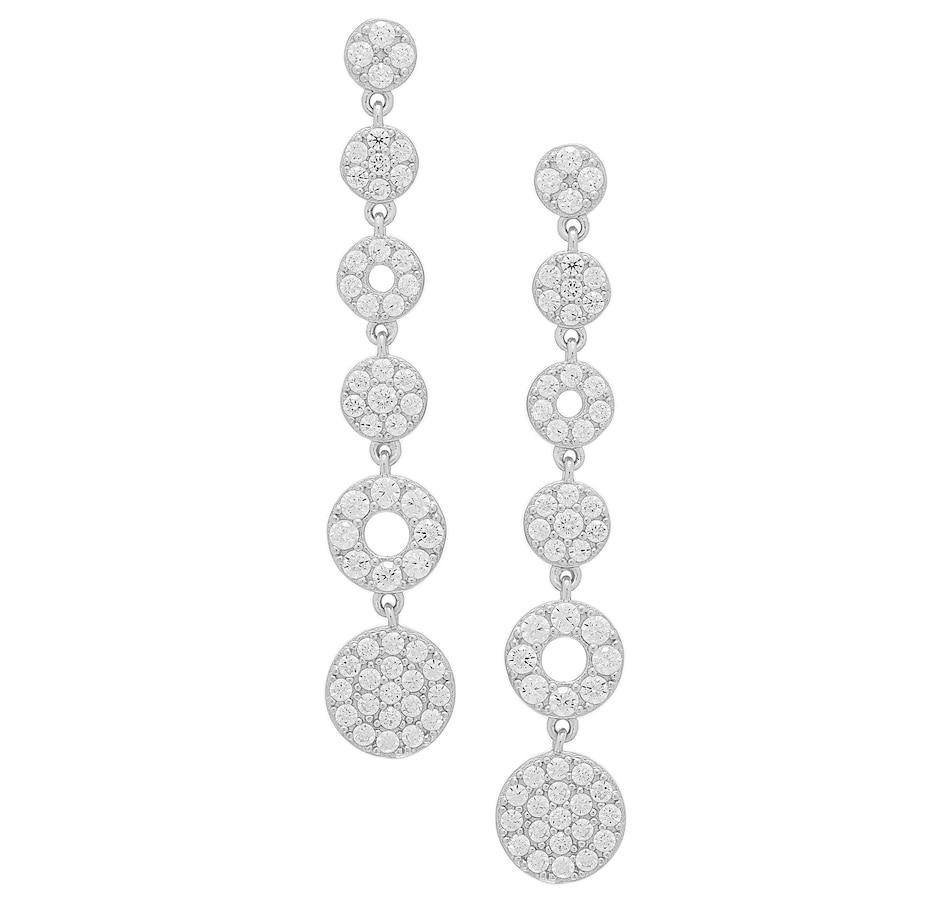 Image 502461.jpg , Product 502-461 / Price $59.88 , Deborah Freund Sterling Silver White Cubic Zirconia Linear Earrings from Deborah Freund Designs on TSC.ca's Jewellery department