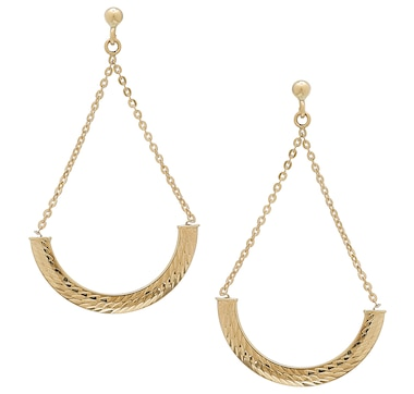 International Gold 10K Yellow Gold Cradle Earrings
