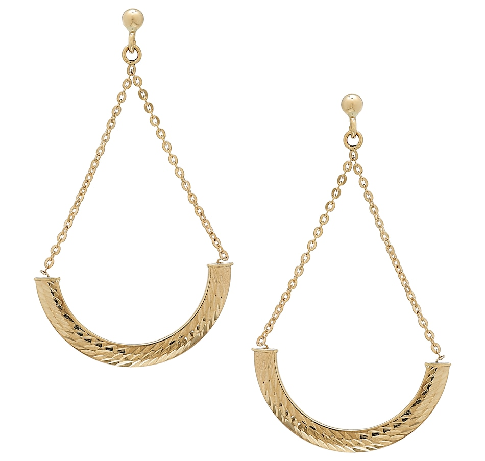 Image 502610.jpg , Product 502-610 / Price $139.99 , International Gold 10K Yellow Gold Cradle Earrings from International Gold on TSC.ca's Holiday Gift Shop department
