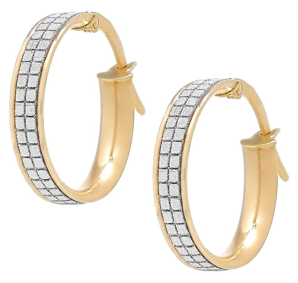 Image 502614.jpg , Product 502-614 / Price $119.99 , International Gold 10K Yellow Gold Glitter Hoop Earrings from International Gold on TSC.ca's Jewellery department