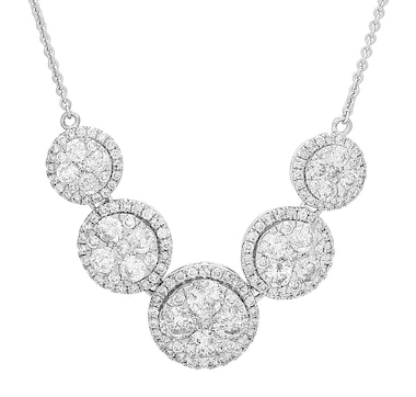 14K White Gold 2.50ctw Diamond Necklace