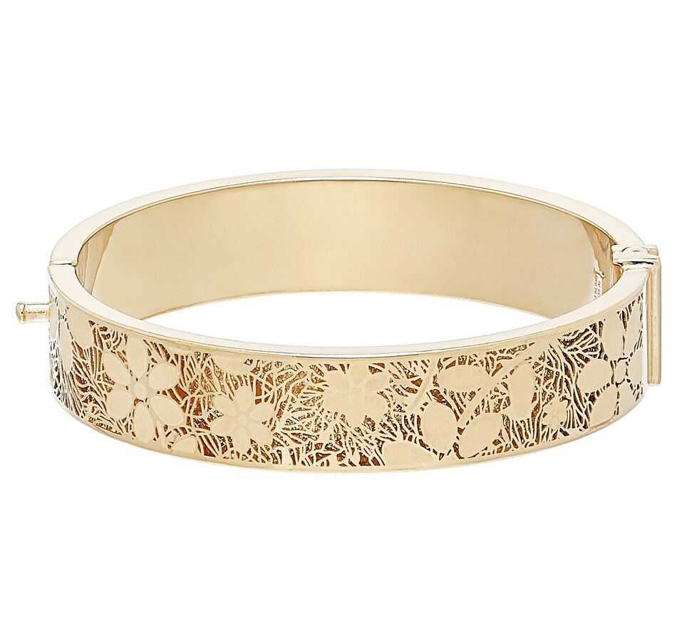 Image 502963.jpg , Product 502-963 / Price $2,199.99 , Stefano Oro 14k Yellow Gold Ricami Grandi Petali Flower Bangle from Stefano Oro on TSC.ca's Jewellery department