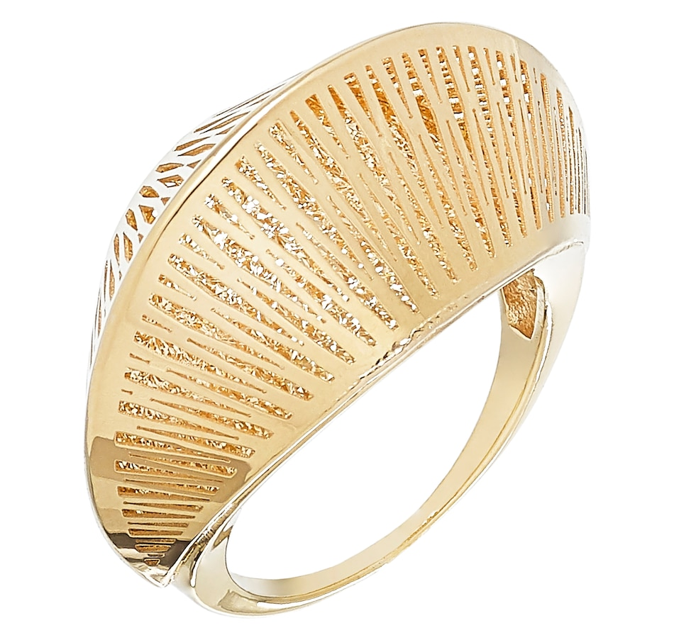Image 502967.jpg , Product 502-967 / Price $599.99 , Stefano Oro 14K Yellow Gold Bold Textured Ring from Stefano Oro on TSC.ca's Jewellery department