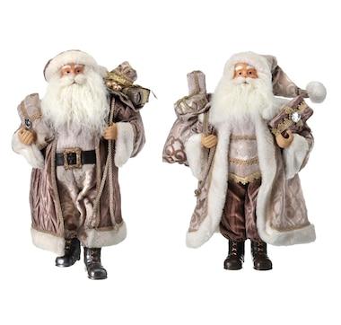 "Holiday Memories 18"" Santa Figures (Set of 2)"