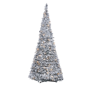 Holiday Memories Flocked Pop-Up LED 6' Christmas Tree