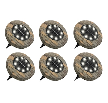 Bell And Howell Stone Disk Lights 6-pack