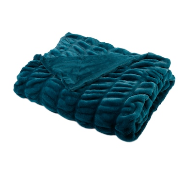 """Guillaume Faux Fur 56x70"""" Ruched Throw"""