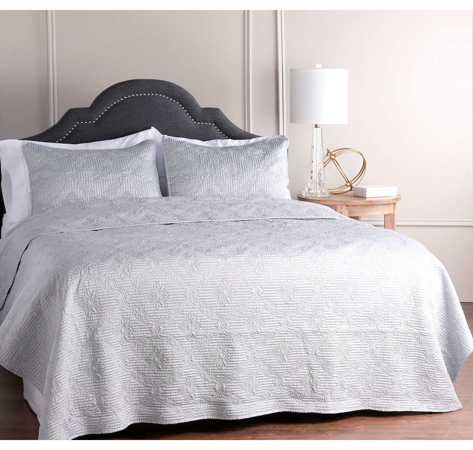 Image 505308_SIL.jpg , Product 505-308 / Price $149.33 - $169.33 , Guillaume Home Quilted Sateen Duvet Coverlet Set from Guillaume on TSC.ca's Home & Garden department