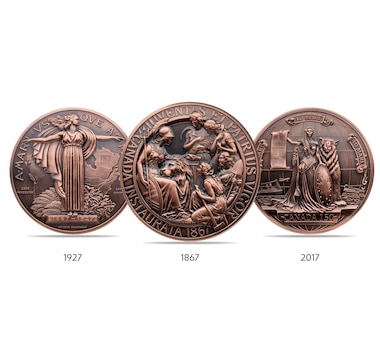 Canada's Most Important Commemorative Medals in Bronze with Antique Finish (Set of Three)
