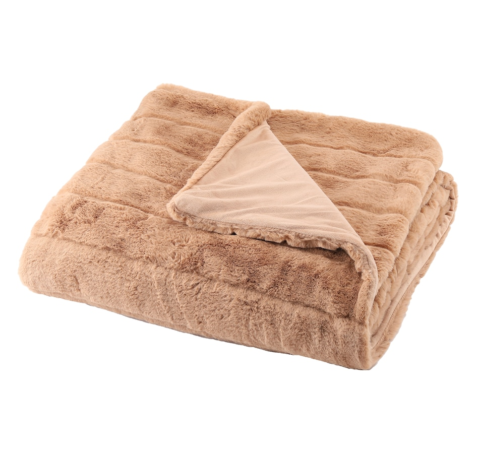 "Image 505402_CML.jpg , Product 505-402 / Price $194.99 , Adrienne Landau Faux Fur Bella Throw 60 x 70"" from A By Adrienne Landau on TSC.ca's Home & Garden department"