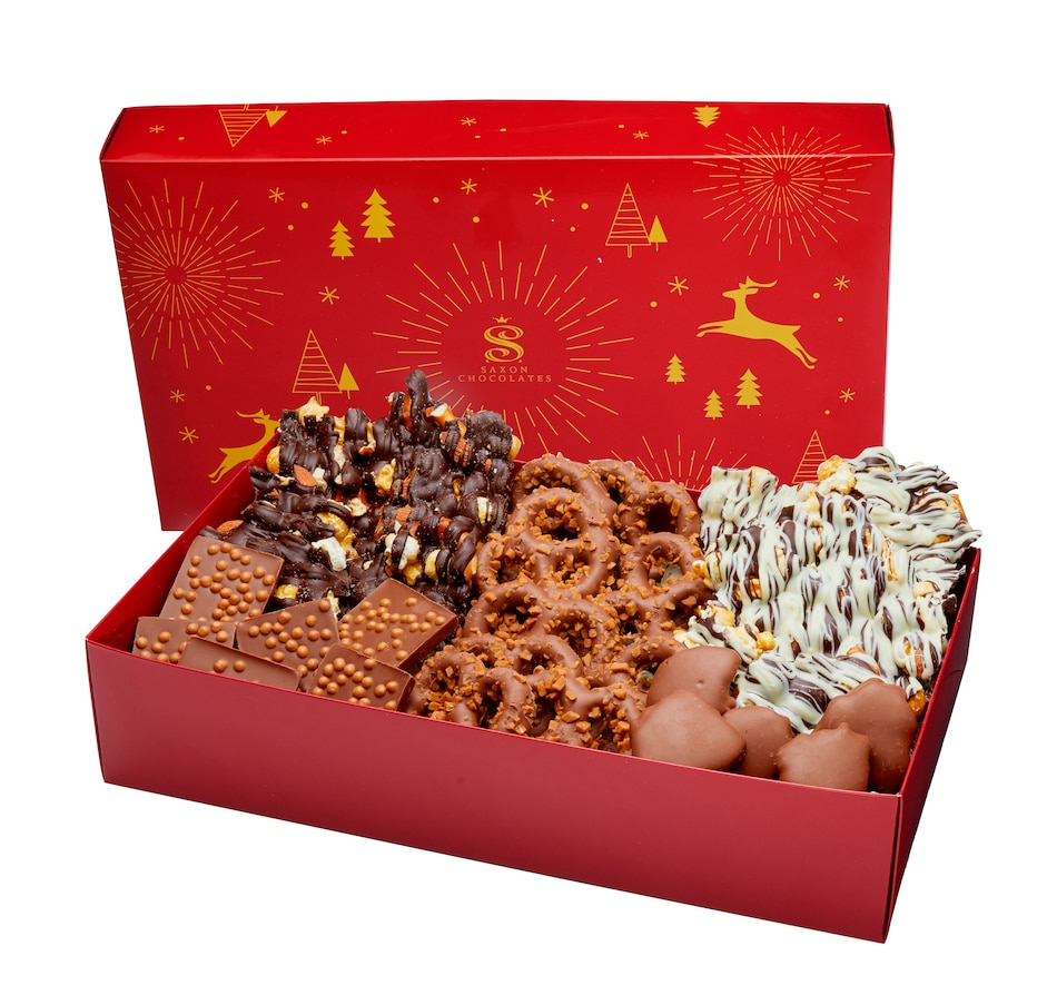 Image 505416_CLA.jpg , Product 505-416 / Price $39.90 , Saxon Chocolate Holiday Treat Gift Box from Saxon Chocolates on TSC.ca's Kitchen department
