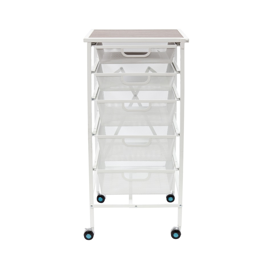 Image 505425_WHT.jpg , Product 505-425 / Price $169.99 , 5-Drawer Kitchen Cart from Origami Rack on TSC.ca's Home & Garden department