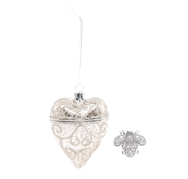 Joan Rivers Keepsake Ornament with Crystal Bee Pin