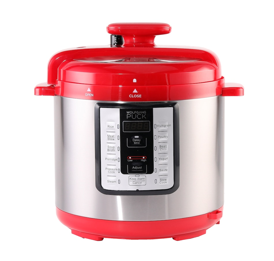 Image 505582_RED.jpg , Product 505-582 / Price $79.99 , Wolfgang Puck 8-Quart Digital Pressure Cooker with Stainless Steel Pot from Wolfgang Puck on TSC.ca's Kitchen department