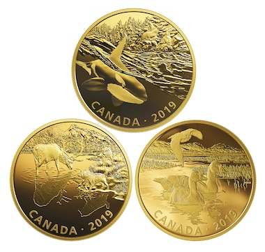 2019 Two-Ounce $30 Fine Silver Golden Reflections: 3-Coin Subscription