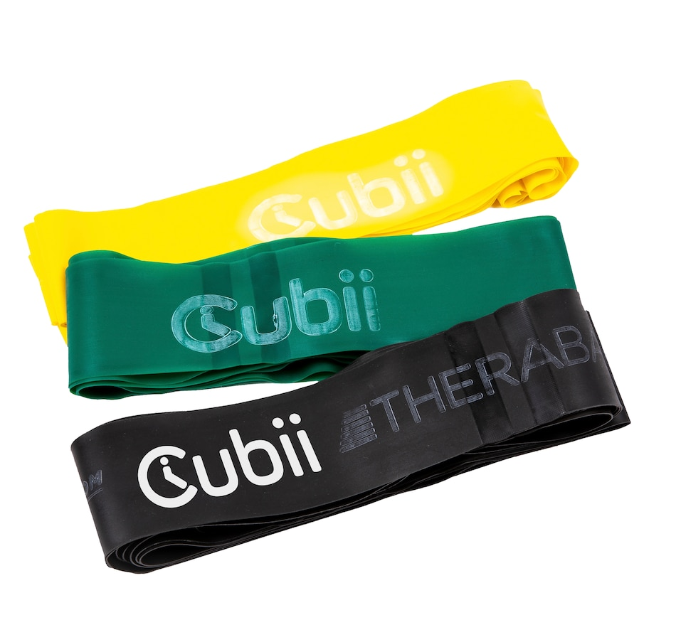 Image 505680.jpg , Product 505-680 / Price $99.99 , Cubii Theraband Exercise Resistance Bands (Set of 3) from Cubii on TSC.ca's Health & Fitness department