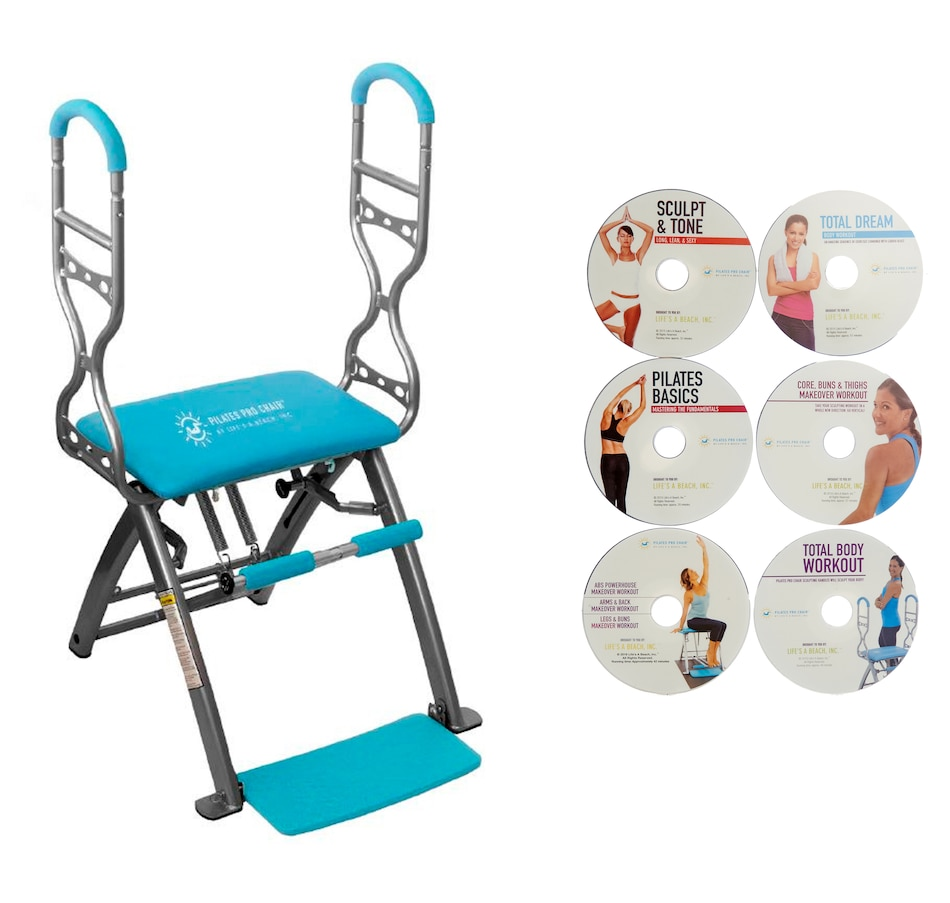 Image 505681_BLU.jpg , Product 505-681 / Price $269.99 , Pilates Pro Chair & Sculpting Handles from Pilates Pro Chair on TSC.ca's Health & Fitness department
