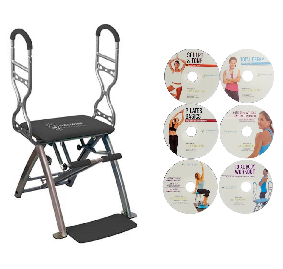 Image 505681_GRY.jpg , Product 505-681 / Price $459.99 , Pilates Pro Chair & Sculpting Handles from Pilates Pro Chair on TSC.ca's Health & Fitness department