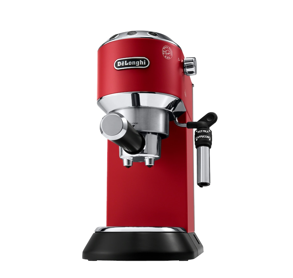 Image 505710_RED.jpg , Product 505-710 / Price $399.99 , De'Longhi Dedica DeLuxe 15-Bar Slim Espresso and Cappuccino Machine with Premium Cappuccino System from DeLonghi on TSC.ca's Kitchen department