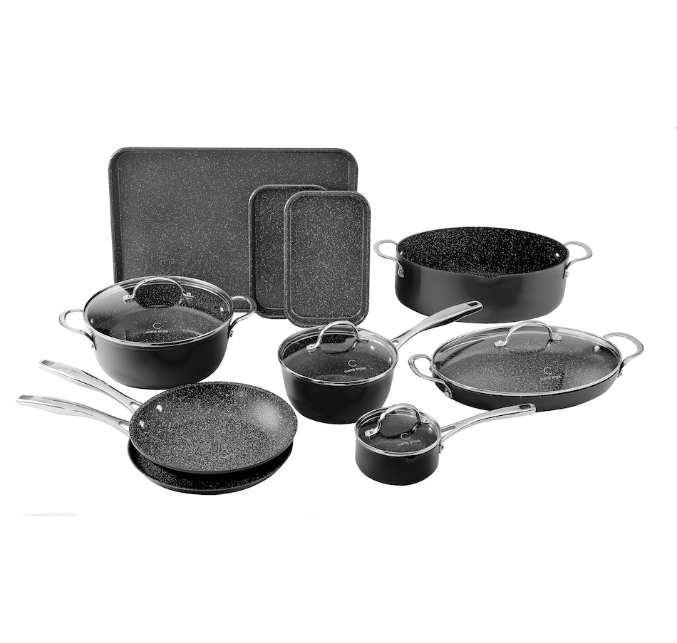 Image 505715_BLK.jpg , Product 505-715 / Price $229.99 , Curtis Stone Dura-Pan 14-Piece All-Purpose Cookware Set from Curtis Stone on TSC.ca's Kitchen department