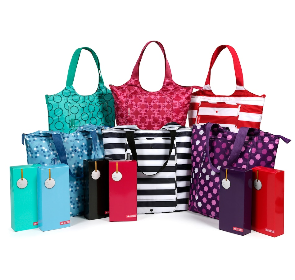 Image 505742.jpg , Product 505-742 / Price $59.99 , California Innovations Set of 6 Fold Down Insulated Market Totes from California Innovations on TSC.ca's Kitchen department