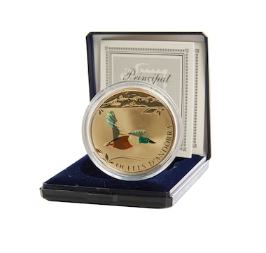 The Northern Shoveler Sterling Silver Coin
