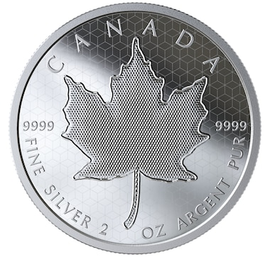 2020 $10 Fine Silver Coin Pulsating Maple Leaf