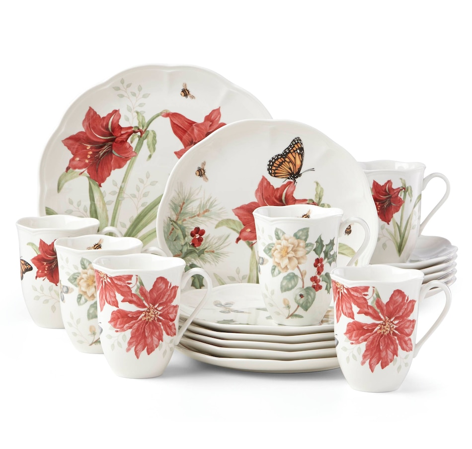 Image 505873.jpg , Product 505-873 / Price $199.99 , Butterfly Meadow™ 18-piece Holiday Dinnerware Set from Lenox on TSC.ca's Kitchen department