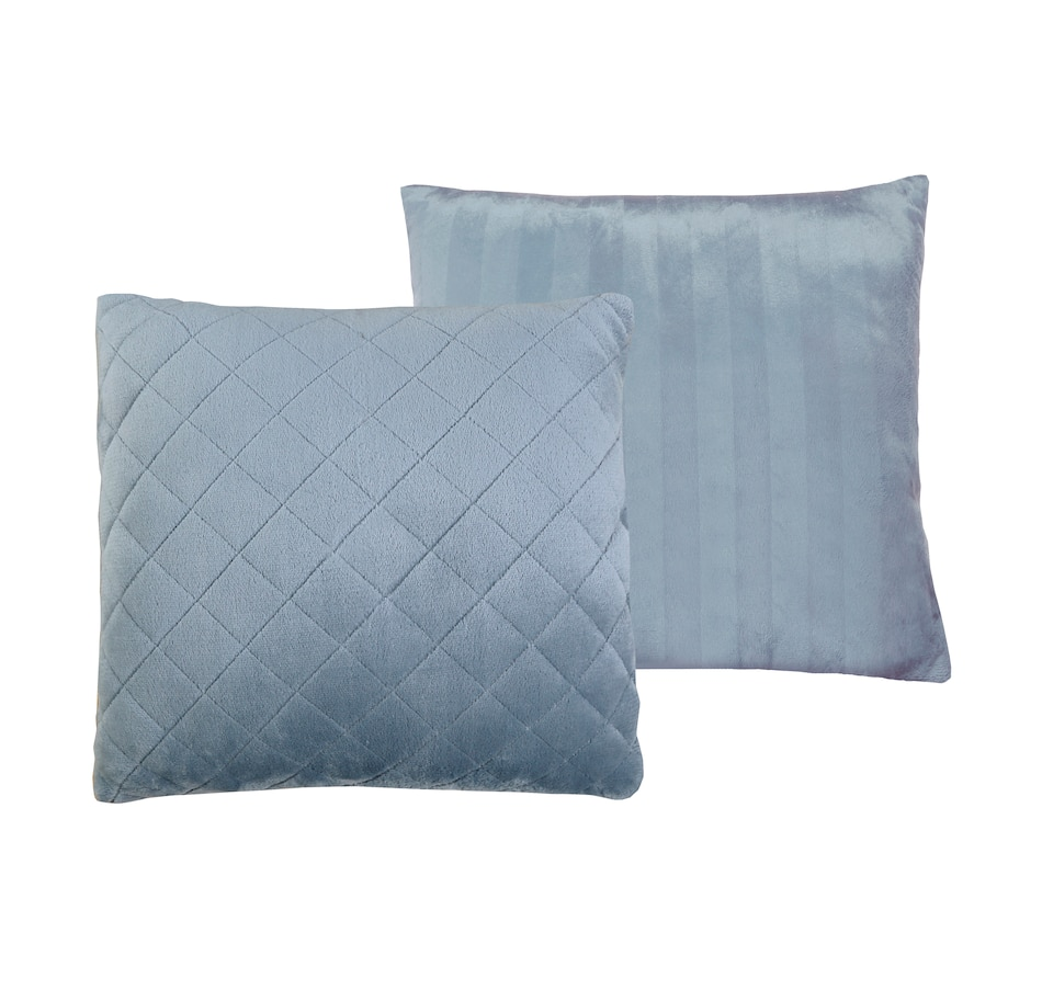 "Image 505888_GRY.jpg , Product 505-888 / Price $26.99 , St. Clair Plush Embossed Reversible Quilted 18"" x 18"" Décor Cushion from St. Clair Bedding on TSC.ca's Home & Garden department"