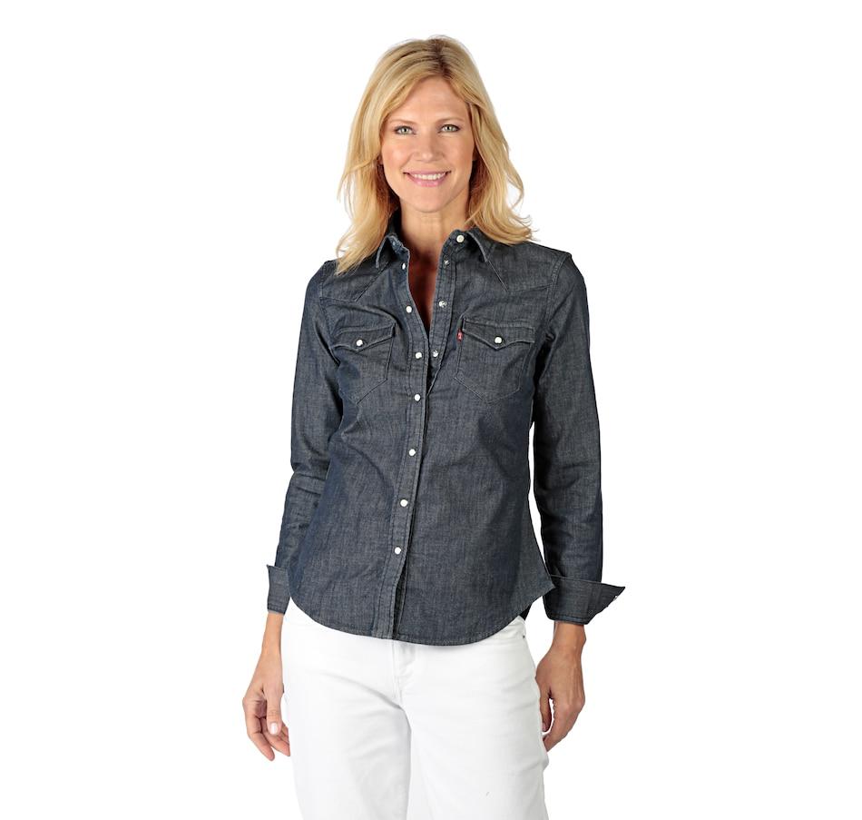 61f311f3 Levis Womens Tailored Western Denim Shirt - DREAMWORKS