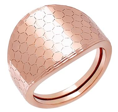 Stefano Oro 14K Gold Honeycomb Ring
