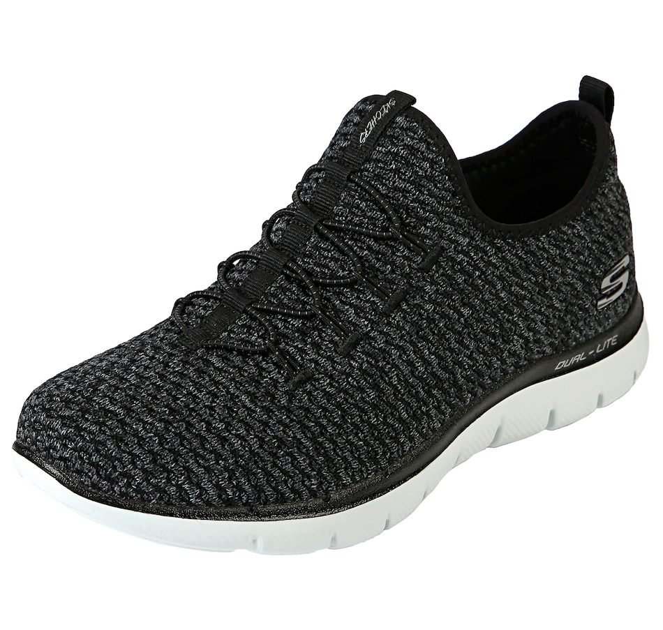 Image 520223_BLK.jpg , Product 520-223 / Price $49.88 , Skechers Multi-Knit Slip-On Bungee Sneaker from Skechers on TSC.ca's Shoes & Handbags department