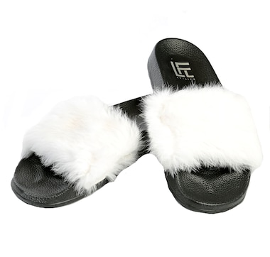 Lust for Life Cozy Real Fur Slide